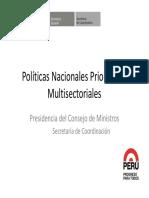 Politicas Nacionales Prioritarias Multisectoriales CEPLAN