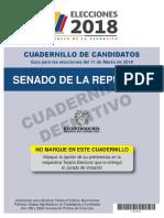 Cuadernillo Senado de La República