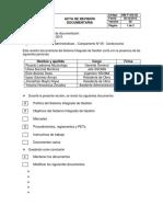 SIM F-SIG-05 Acta de Revisión Documentaria