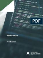 Matemática - Dicas de Estudo