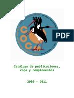 Catálogo de publicaciones,  ropa y complementos  2010 ‐ 2011