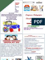 Programa Congreso Pedagogico Circuital 2017-2018