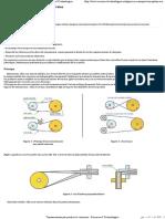Transmissions Par Poulies Et Courroies - Sciences Et Technologies
