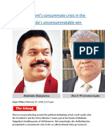 The government's consummate crisis in the face of Mahinda's unconsummatable win.docx