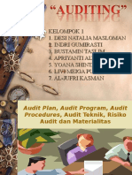 Audit Kelompok 1_ Audit Plan, Audit Program, Audit Prosedures, Audit Teknik, Risiko Audit Dan Materialitas