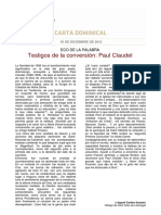 Testigos de La Conversion Paul Claudel