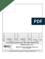 Evaluación estructural torre ventada triangular 42m - Chiguata - Cargas existentes y proyectadas.docx