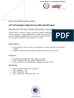 1X Technologies Engineering English PDF Cable Specification - Belden 1269A Cable Equivalent - 1XB1269AEQ