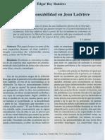 Etica Y Responsabilidad en Jean Ladriere