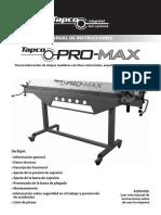 Manual Promax Es