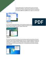 Versiones de Windows Recientes