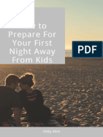 How to Prepare for First Night Away From Kids