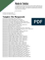 Lista de Libros Mundo de Tinieblas