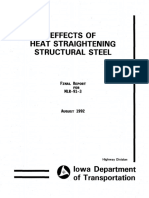 Effects of Heat Striaghening in Structural steel