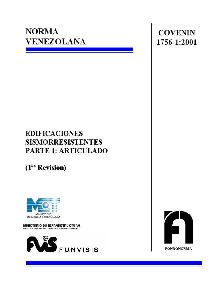covenin 1756