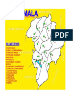 Mapa Del Depto de Guate