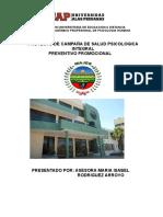 Proyecto Campaña de Salud Psicologica - Majes Arequipa