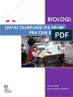 Modul Olimpiade IPA Biologi SD Untuk Pelatihan OSN SD Folder OSN