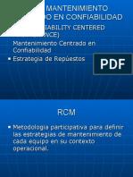 Rcm- Mantenimiento Centrado en Confiabilidad