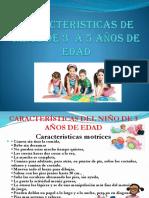 Características de los niños y niñas