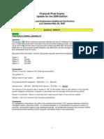 2008 Financial Final Exams Update3