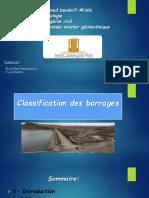 Classification Des Barrages