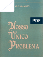 Nosso Unico Problema - J Krishnamurti