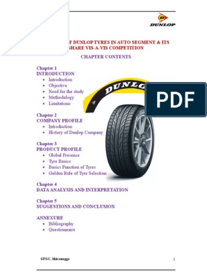 Dunlop-tyres doc | Tire | Marketing Research