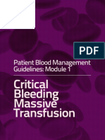 critical bleeding massive transfusion