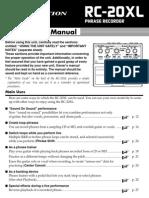 RC-20XL e4 Users Manual