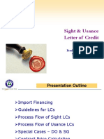 Trade Finance Sight & Usance LCs