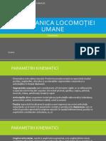 Biomecanica Locomoției Umane - Kinematica