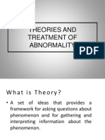 2 Theories and Treatment of Abnormality