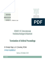 Termination of Arbitral Proceedings 20151027