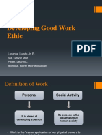 Chapter 9 - Developing Good Work Ethic REport