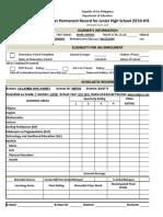 School Form 10 SF10 Learner's Permanent Academic Record for Junior High School.xlsx