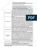 Annotations on a Research Article - 1