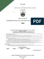 Preamble Inter Part-II Annual 2016