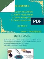PPT FISIKA LISTRIK STATIS KELAS 12