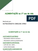 ALIMENTACAO PEDIATRIA