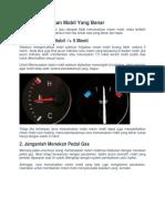 Cara Memanaskan Mobil Yang Benar