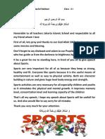 Speech About Sports2