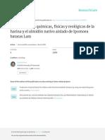 Caracteristicas Fisico Quimicas y Reologicas de La Harina y El Almidon de Batata