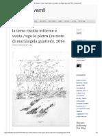 La Terra Risulta Informe e Vuota  Ugo La Pietra / Mariangela Guatteri
