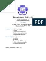 International Mkt Assignment