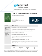 The 15 Invaluable Laws of Growth Maxwell en 18403