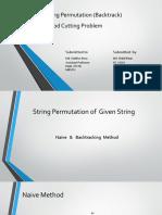 String Permutation and Rod Cutting Problem