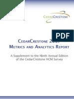 Cedar Crest One 2007 Metrics and Analytics[1]