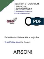 Demolition of a School After a Major Fire.