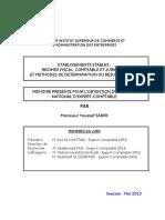 Etablissements Stables Régimes Fiscal, Comptable Et Juridique Et Méthodes de Détermination Du Résltat Fiscal